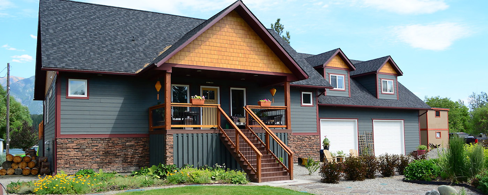 Home built by Steeples Construction