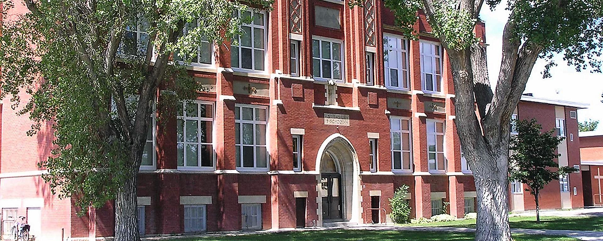 Commercial windows installed in school building