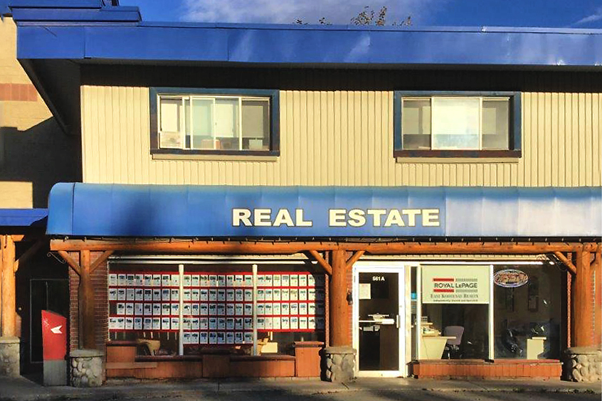 exterior building for Royal LePage East Kootenay Realty in Fernie