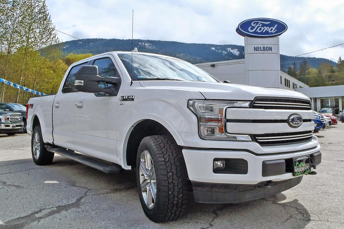 white ford truck