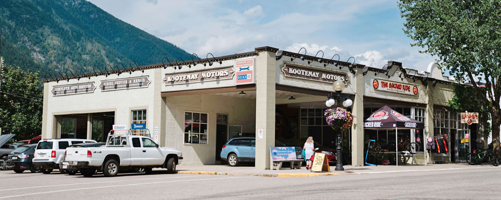 The exterior of Kootenay Motors in Nelson.