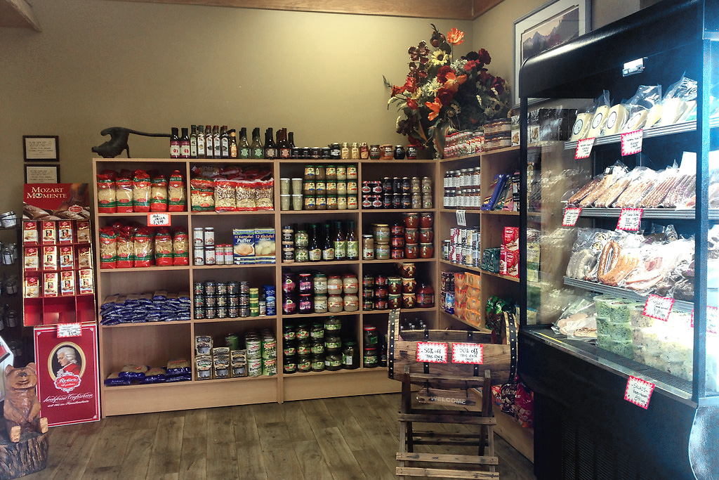 Products on display at Rick's Fine Meats and Sausage
