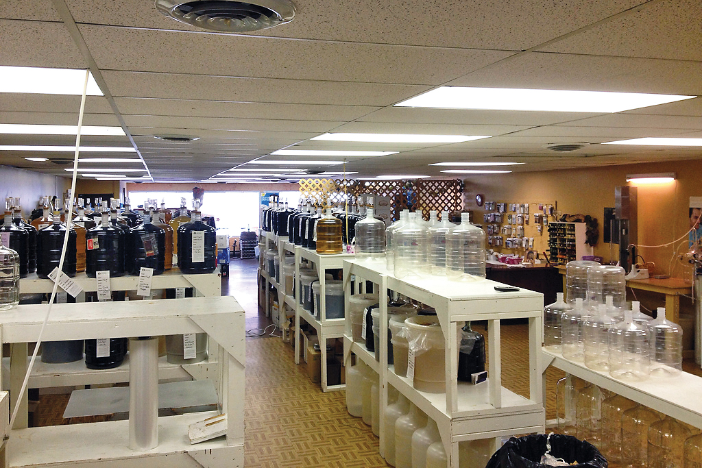 Inside the store at Kootenay WineCrafters