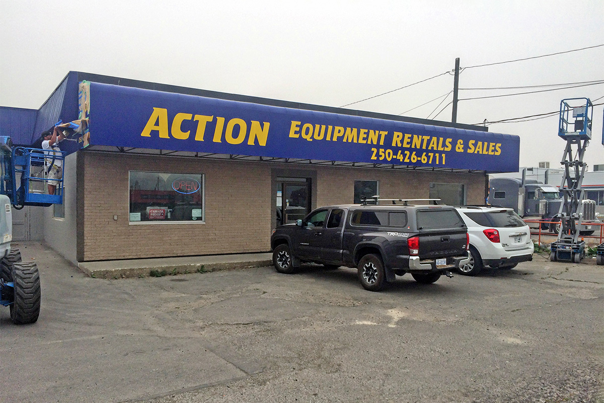 front view of Action Rental & Sales Building