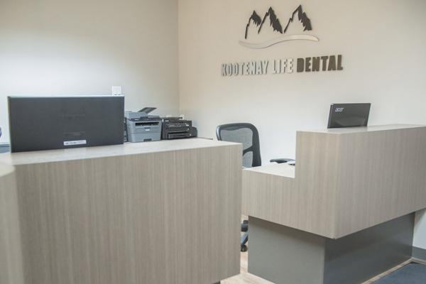 Inside the office at Kootenay Life Dental Photo
