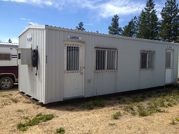 Exterior building of a portable office