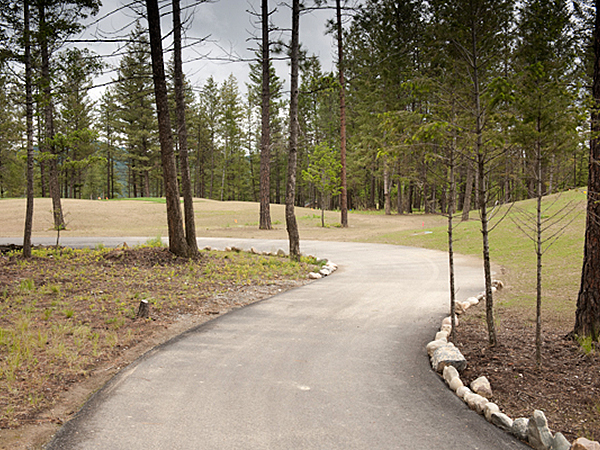 Paved pathway at a park
