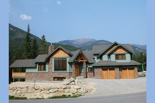 Showhome built in a mountainous terrain