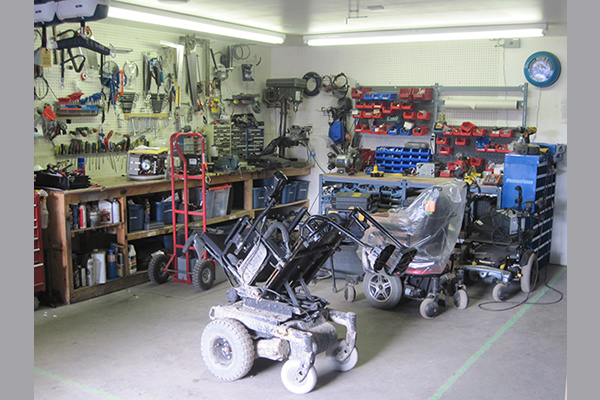 A variety of electric scooters on display within store