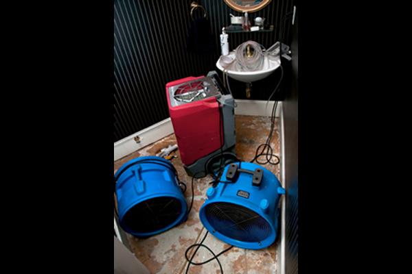 Equipment in a closet