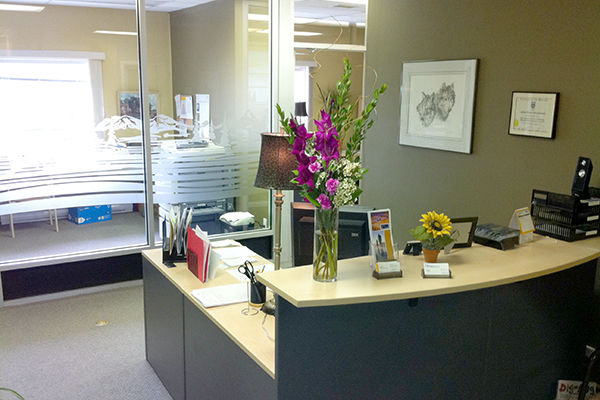 Interior of office with a desk at A C Dyck Financial Services