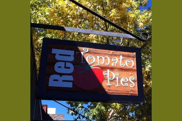 Exterior sign for Red Tomato Pies