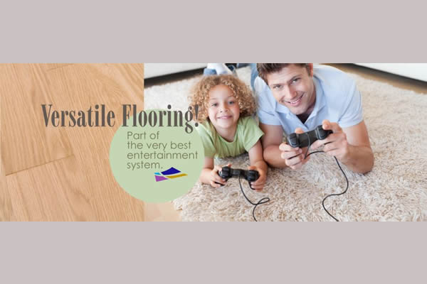 poster advertising Nufloors Creston's versatile flooring