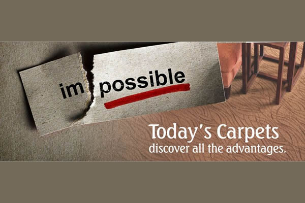 poster advertising the advantages of carpet