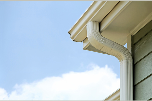 Eavestrough and gutters under a roof