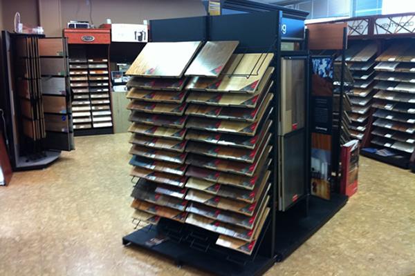 Flooring samples on display at Cranbrook Flooring