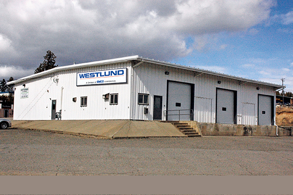 Exterior of building from a distance of Westlund