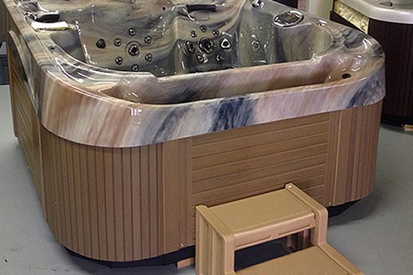 Hot tub on display