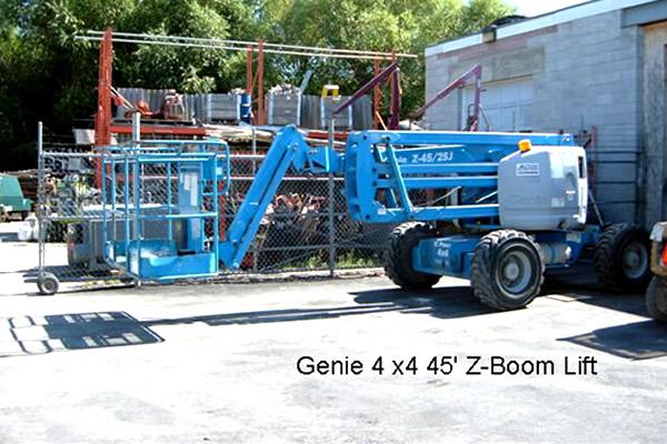 blue boom lift