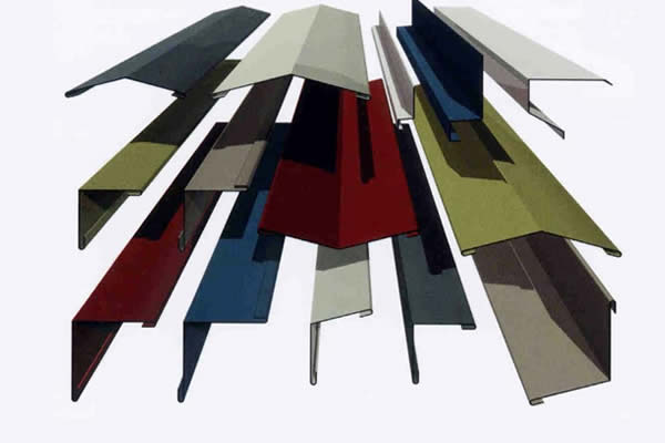 Various colours of flashing