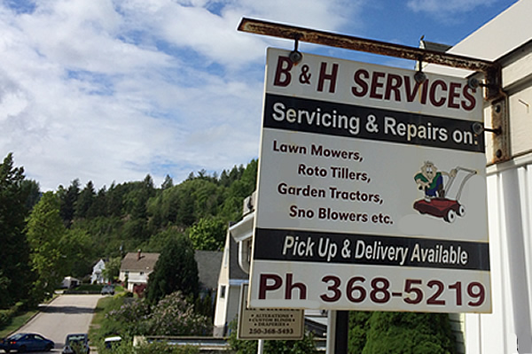 exterior sign advertising B and H Services