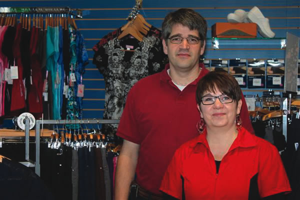 David Stokes and Dana Tippe standing in the store at Kootenay Columbia Home Medical Equipment.