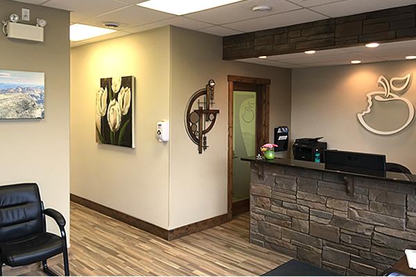 reception area at Cranbrook Denture Clinic in Cranbrook British Columbia