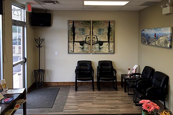 seating area at Cranbrook Denture Clinic in Cranbrook British Columbia