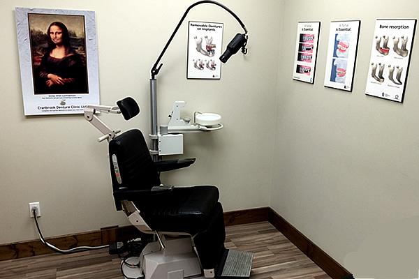 examination room at Cranbrook Denture Clinic in Cranbrook British Columbia