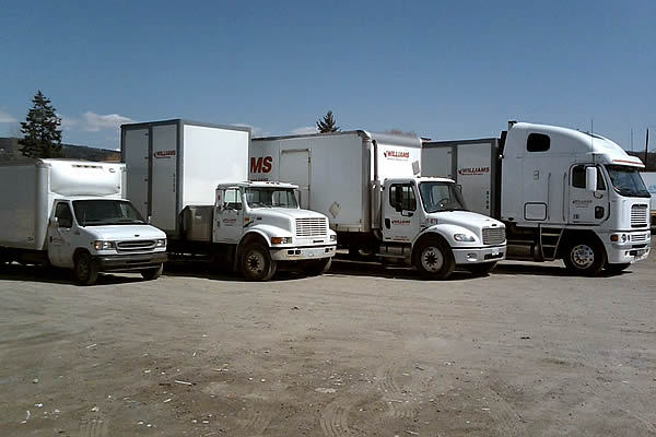 Semi trucks advertising Williams Moving & Storage