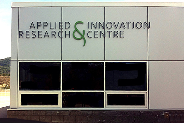 applied research and innovation centre with the exterior of the windows being powder coated
