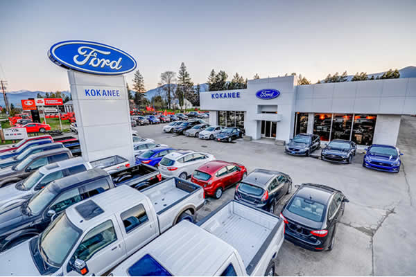 sales car lot at Kokanee Ford Sales in Creston