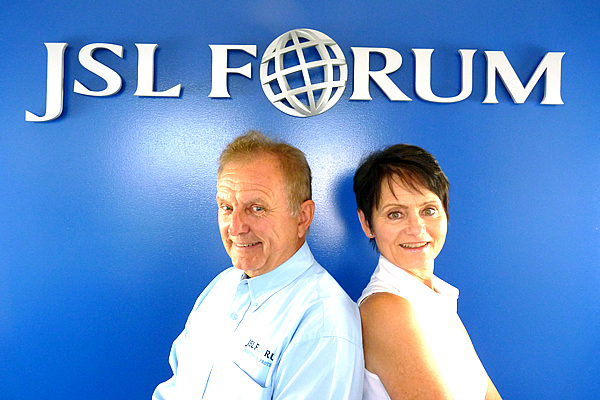 Wolfgang Brunnbauer and Gabriele Brunnbauer, owners of J S L Forum