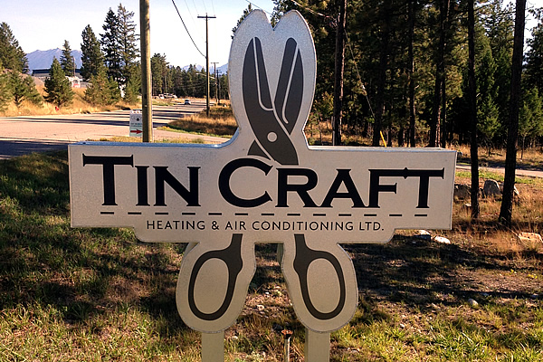 exterior sign advertising Tin Craft