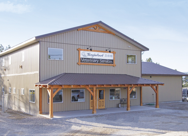 exterior building for Tanglefoot Veterinary Services