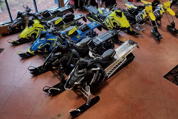 Snowmobile sales, equipment, supplies and repairs
