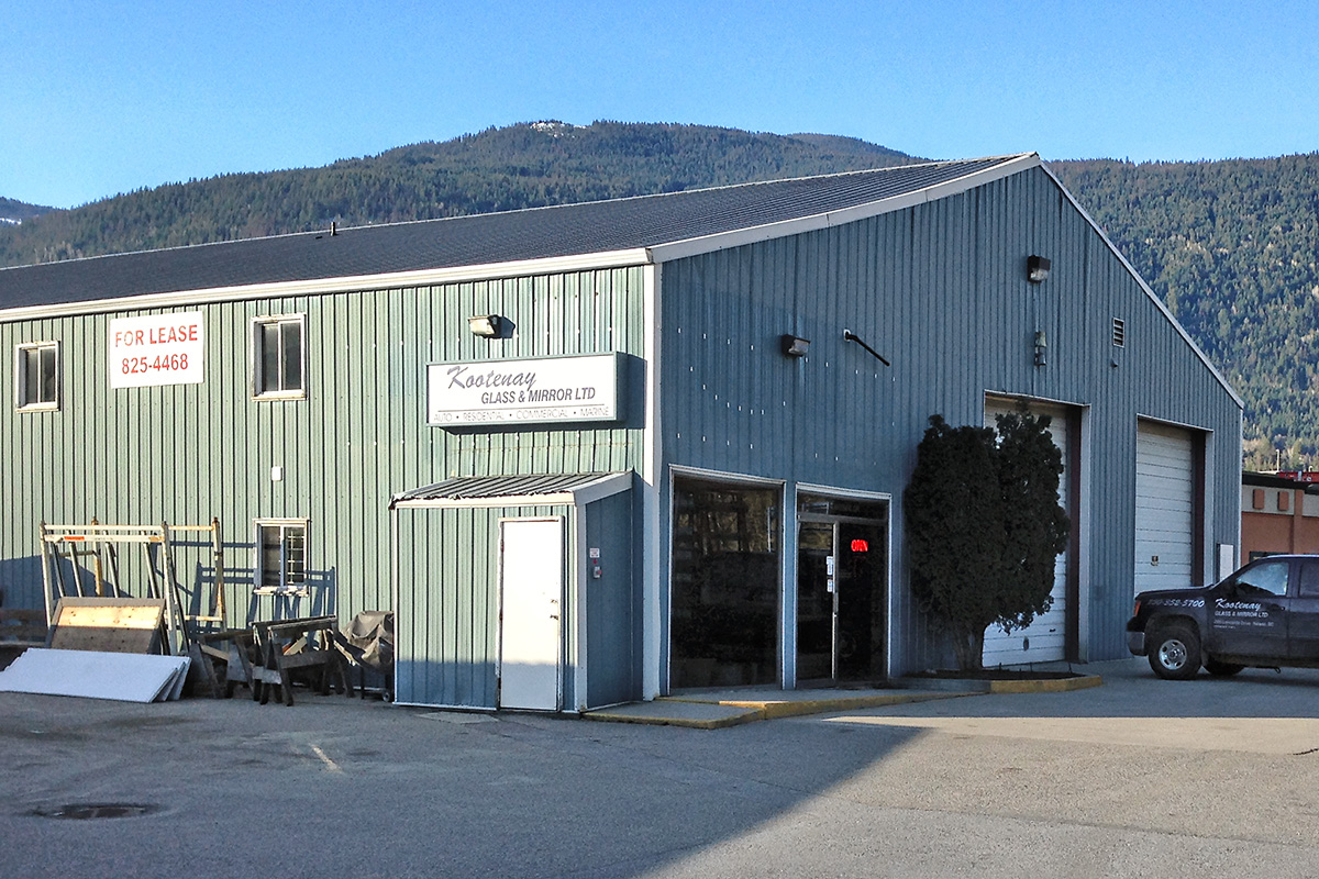 Exterior building for Kootenay Glass and Mirror
