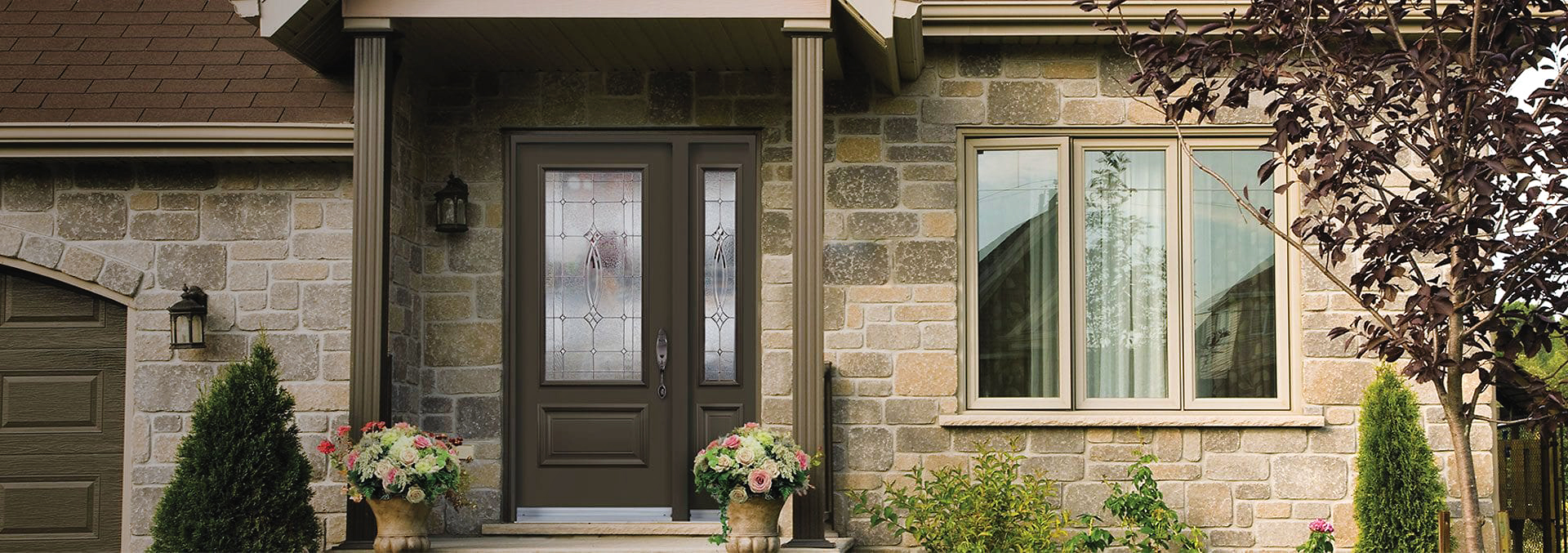 PVC window in home